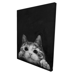 Canvas 36 x 48 - 3D - Curious cat