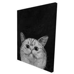 Canvas 36 x 48 - 3D - Watching cat