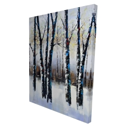 Canvas 36 x 48 - 3D - Frosted trees
