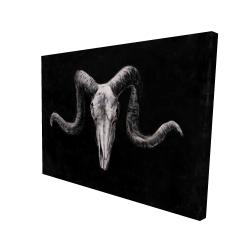 Canvas 36 x 48 - 3D - Skeleton skulls grunge style
