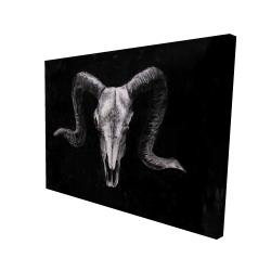 Canvas 36 x 48 - 3D - Ram skull grunge style