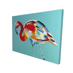 Canvas 36 x 48 - 3D - Abstract flamingo