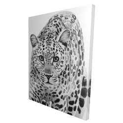 Canvas 36 x 48 - 3D - Leopard ready to attack