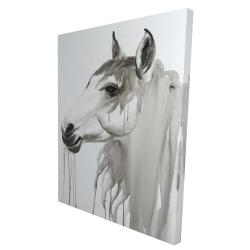 Canvas 36 x 48 - 3D - Beautiful white horse