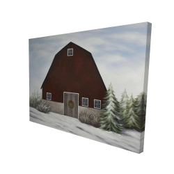Canvas 36 x 48 - 3D - It's winter on the farm