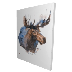 Canvas 36 x 48 - 3D - Abstract blue moose