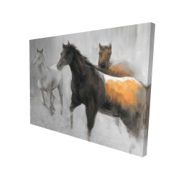 Canvas 36 x 48 - 3D - Abstract herd of horses
