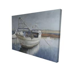 Canvas 36 x 48 - 3D - Blue fishing boat