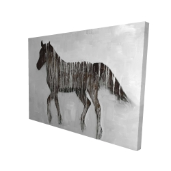 Canvas 36 x 48 - 3D - Gambading abstract horse