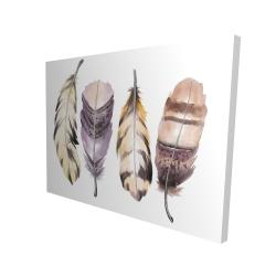 Canvas 36 x 48 - 3D - Purple feather set