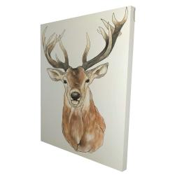 Canvas 36 x 48 - 3D - Front deer portrait