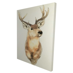 Canvas 36 x 48 - 3D - Deer portrait