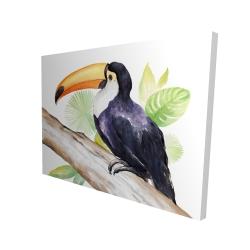 Canvas 36 x 48 - 3D - Toucan perched