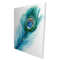 Canvas 36 x 48 - 3D - Long peacock feather