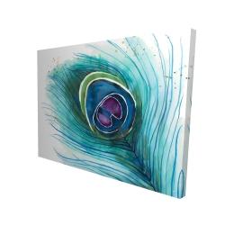 Canvas 36 x 48 - 3D - Peacock feather closeup