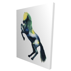 Canvas 36 x 48 - 3D - Greeting horse