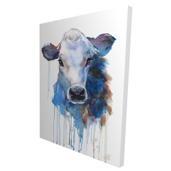 Canvas 36 x 48 - 3D - Watercolor jersey cow