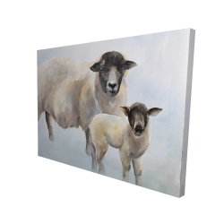 Canvas 36 x 48 - 3D - Sheep and its baby