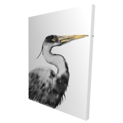 Canvas 36 x 48 - 3D - Great heron