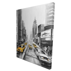 Canvas 36 x 48 - 3D - Yellow taxis in new york