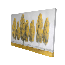 Canvas 36 x 48 - 3D - Abstract yellow trees