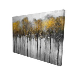 Canvas 36 x 48 - 3D - Abstract yellow forest