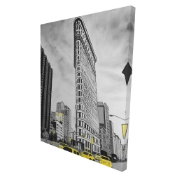 Canvas 36 x 48 - 3D - Outline of flatiron building to new-york
