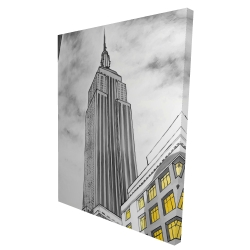 Canvas 36 x 48 - 3D - Outline of empire state building