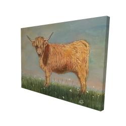 Canvas 36 x 48 - 3D - Daisy the highland cow
