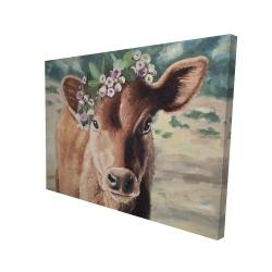 Canvas 36 x 48 - 3D - Cute jersey cow