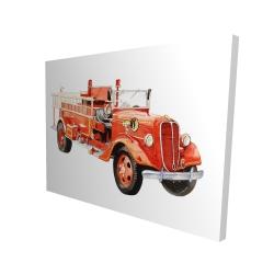 Canvas 36 x 48 - 3D - Vintage fire truck