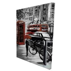 Canvas 36 x 48 - 3D - European street