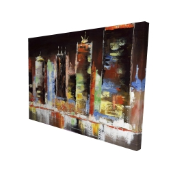 Canvas 36 x 48 - 3D - Cityscape by night