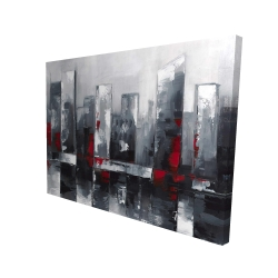 Canvas 36 x 48 - 3D - Abstract cityscape