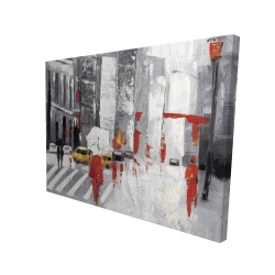 Canvas 36 x 48 - 3D - Abstract cloudy city street