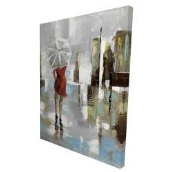 Canvas 36 x 48 - 3D - Red dress woman