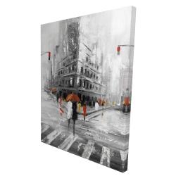 Canvas 36 x 48 - 3D - Greyish flatiron building