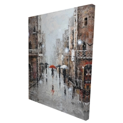 Canvas 36 x 48 - 3D - City rain