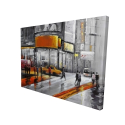 Canvas 36 x 48 - 3D - Circulation in times square