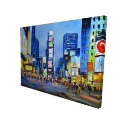 Canvas 36 x 48 - 3D - Cityscape in times square
