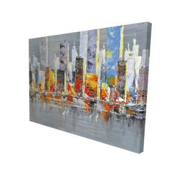 Canvas 36 x 48 - 3D - Color splash cityscape