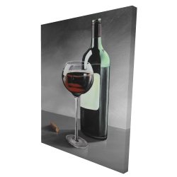 Canvas 36 x 48 - 3D - Bottle of burgundy