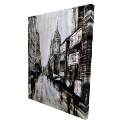Canvas 36 x 48 - 3D - Busy gray street