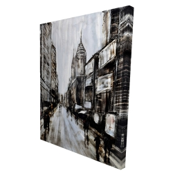 Canvas 36 x 48 - 3D - Busy gray street