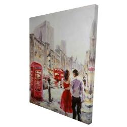 Canvas 36 x 48 - 3D - Couple walking