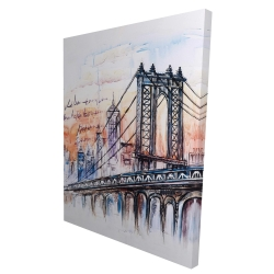 Canvas 36 x 48 - 3D - Bridge sketch