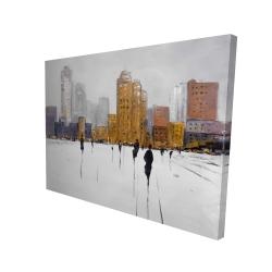 Canvas 36 x 48 - 3D - City on the horizon