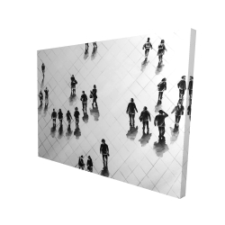 Canvas 36 x 48 - 3D - Overhead view of people on the street
