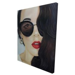 Canvas 36 x 48 - 3D - Fashionable sunglasses