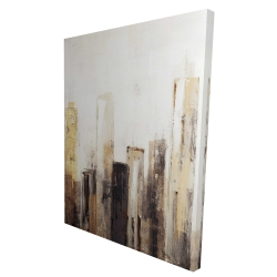 Canvas 36 x 48 - 3D - Earthy tones city